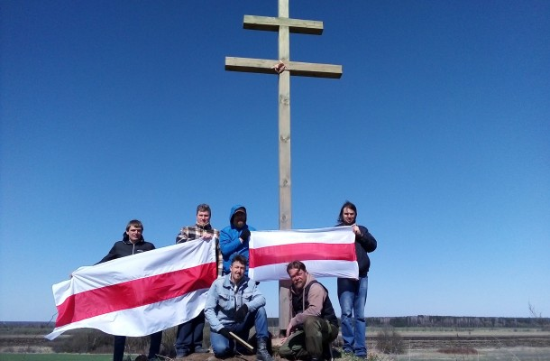 A cross in honour of the rebels of 1863 is installed in Lida district