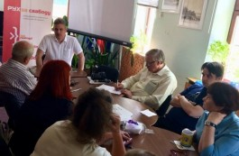 Hubarevich meets with the MFF activists in Vitsebsk